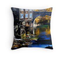 """ Upstream "" Throw Pillow"
