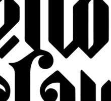 Yellow Claw Logo Black Sticker