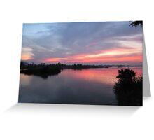 Dawn sea view Greeting Card