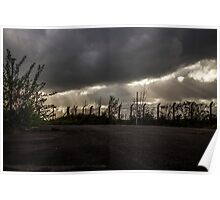 Rays and Clouds Poster