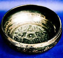 Blue Black Bowl - Tibetan Art by Chinua Ford