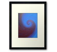 Deep Sea Swirl Framed Print