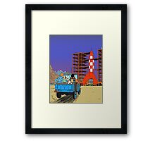 Tintin - Destination moon Framed Print