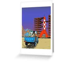 Tintin - Destination moon Greeting Card
