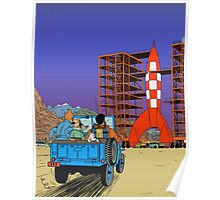 Tintin - Destination moon Poster