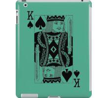 KING OF SPADES-BLACK iPad Case/Skin
