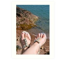 Seaside feet Art Print