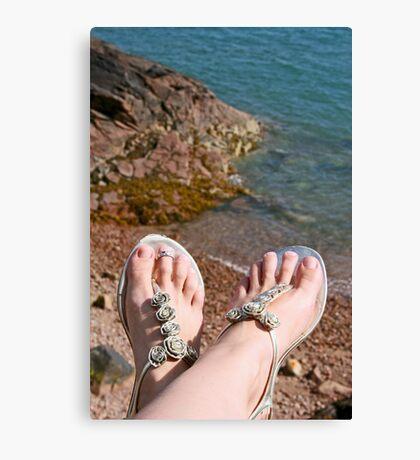 Seaside feet Canvas Print
