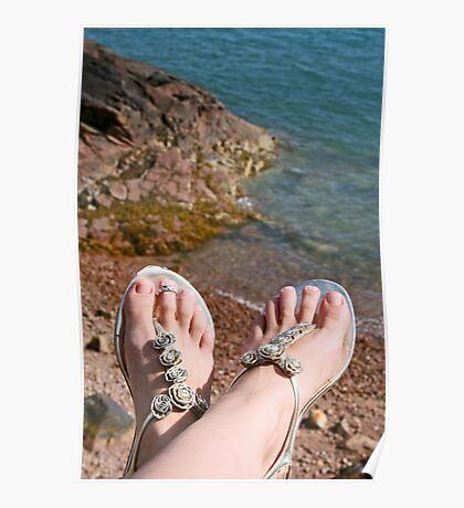 Seaside feet Poster