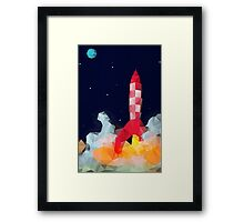 Tintin - Explorers to the moon Framed Print