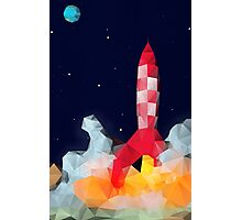 Tintin - Explorers to the moon Photographic Print
