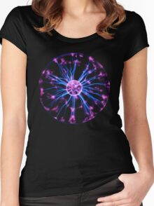Classic Plasma Ball Women's Fitted Scoop T-Shirt