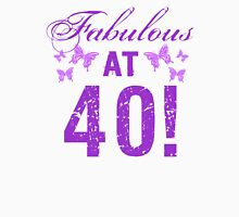 Fabulous 40th Birthday Womens Fitted T-Shirt