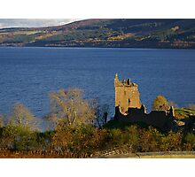 Urquhart Castle at Dusk Photographic Print