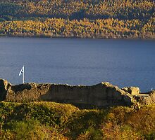 Urquhart Castle Saltire by Susan Dailey
