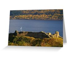 Urquhart Castle Saltire Greeting Card
