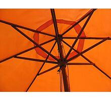 Orange Shade Photographic Print