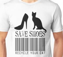 Save Shoes: Recycle Your Cat Unisex T-Shirt