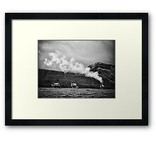 Climate change source found Framed Print