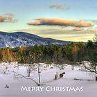 2 Horses Merry Christmas by Wayne King