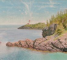"""Swallowtail Light-Grand Manan"" by George Roche"