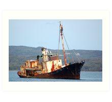 Cheynes 11 - Rusting Whaling Ship Art Print