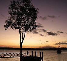 Fishing at Sunset, Cooktown by Alex Bonner