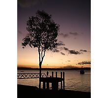 Fishing at Sunset, Cooktown Photographic Print