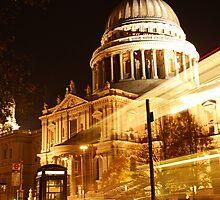St Pauls at Night by daniellesalmon