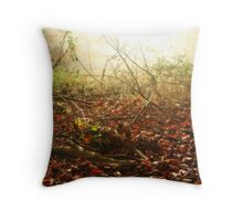 Morning on the Autumn forest floor Throw Pillow