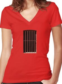 This Is My Own Little Prison Women's Fitted V-Neck T-Shirt