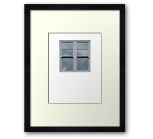 Gray Windows Framed Print