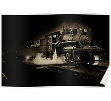Sepia toned steam train Poster