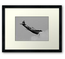 Diving to the Attack ! Framed Print