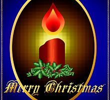 Merry Christmas Candle by Lotacats