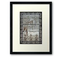 Pere Lachaise stained glass Framed Print