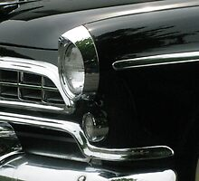 Parade Ready- close up of a black classic car by AmandaFerryman