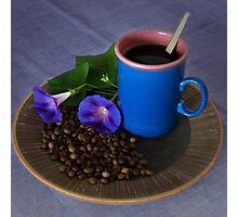Coffee - the blues  Photographic Print