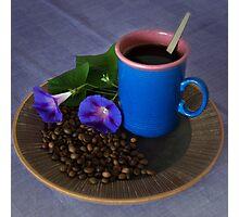 Coffee - the blues  Photographic Print