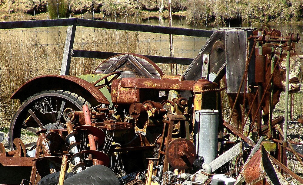 Rusting relics on the way to Cobber Pedy Australia by Elaine Game
