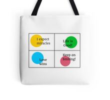 Positive Affirmations collage  Tote Bag