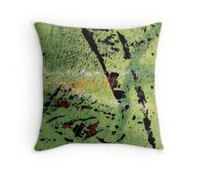 Green Piece Throw Pillow