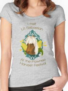 I met Li'l Sebastian at the Pawnee Harvest Festival Women's Fitted Scoop T-Shirt