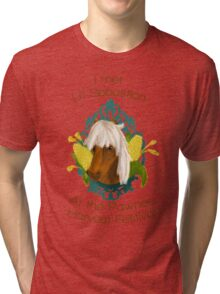 I met Li'l Sebastian at the Pawnee Harvest Festival Tri-blend T-Shirt