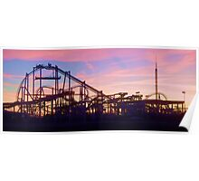 Roller Coaster At The  NJ Shore Poster