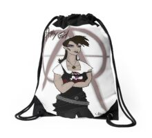 Apathy Girl Drawstring Bag