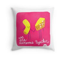 Mac n Cheese - Awesome Together Throw Pillow
