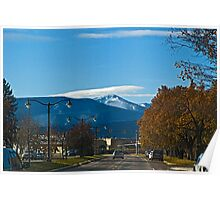 Lolo Peak From Stephens Avenue Poster