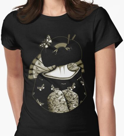 Geisha Girl antique Womens Fitted T-Shirt