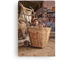 Basketcase - Talat Dao Heung (Dao Heung Market), Pakse, Laos Canvas Print